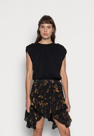 NICO HELIGAN SKIRT - Mini skirt - black gold