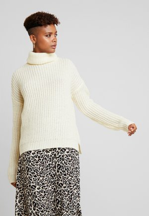 ROLL NECK JUMPER - Jersey de punto - winter white