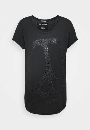 WIDE CREW PEACE BLACK - Camiseta estampada - black