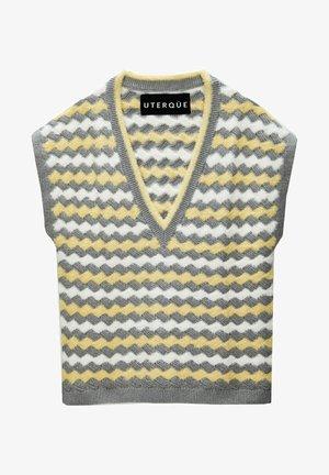 MIT STREIFEN  - Print T-shirt - grey