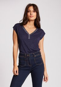 Morgan - Print T-shirt - dark blue - 0