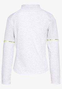 ONLY PLAY Petite - ONPALYSSA ZIP PETITE - Collegetakki - white melange/saftey yellow - 1