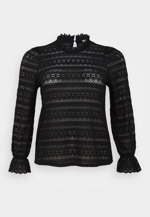 VICHIKKA HIGH NECK LACE  - Blouse - black