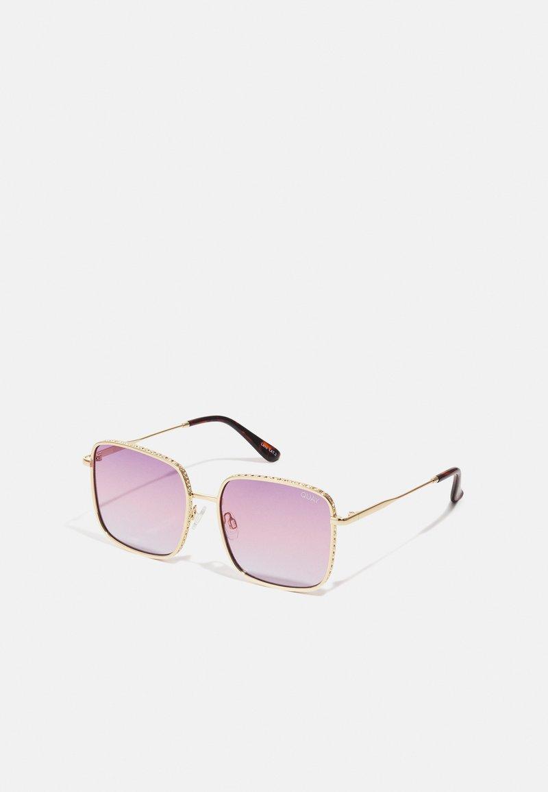 QUAY AUSTRALIA - REAL ONE - Occhiali da sole - gold-coloured/ purple pink