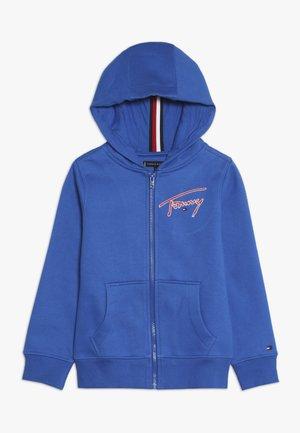 ESSENTIAL SIGNATURE HOODED ZIP - Zip-up hoodie - blue