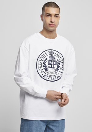 SOUTHPOLE COLLEGE LONGSLEEVE - Long sleeved top - white