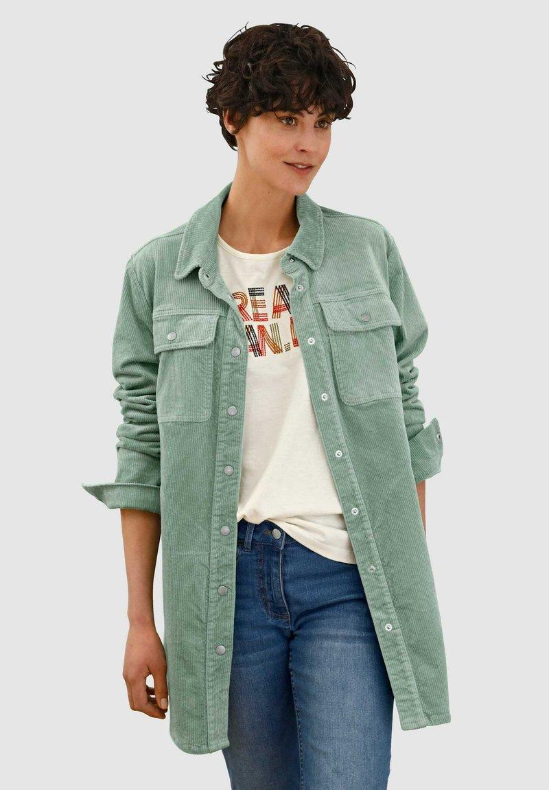 Dress In - Short coat - salbeigrün
