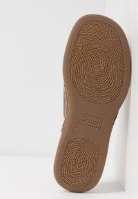 Gabor - T-bar sandals - peanut - 5