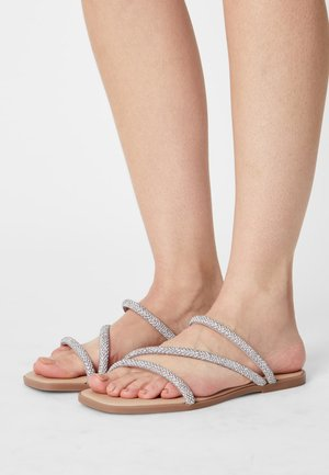 LEATHER - Mules - silver