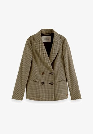 DOUBLE-BREASTED CHECKED - Blazer jacket - green