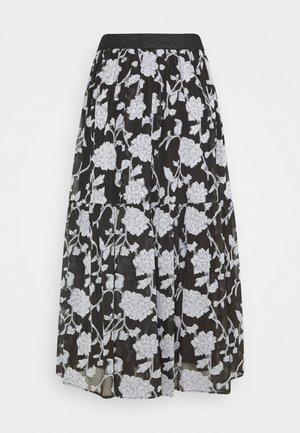 LCKRISTA SKIRT - A-line skirt - black/white
