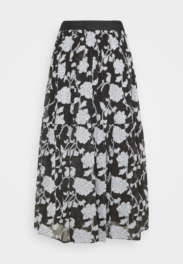 LCKRISTA SKIRT - Gonna a campana - black/white