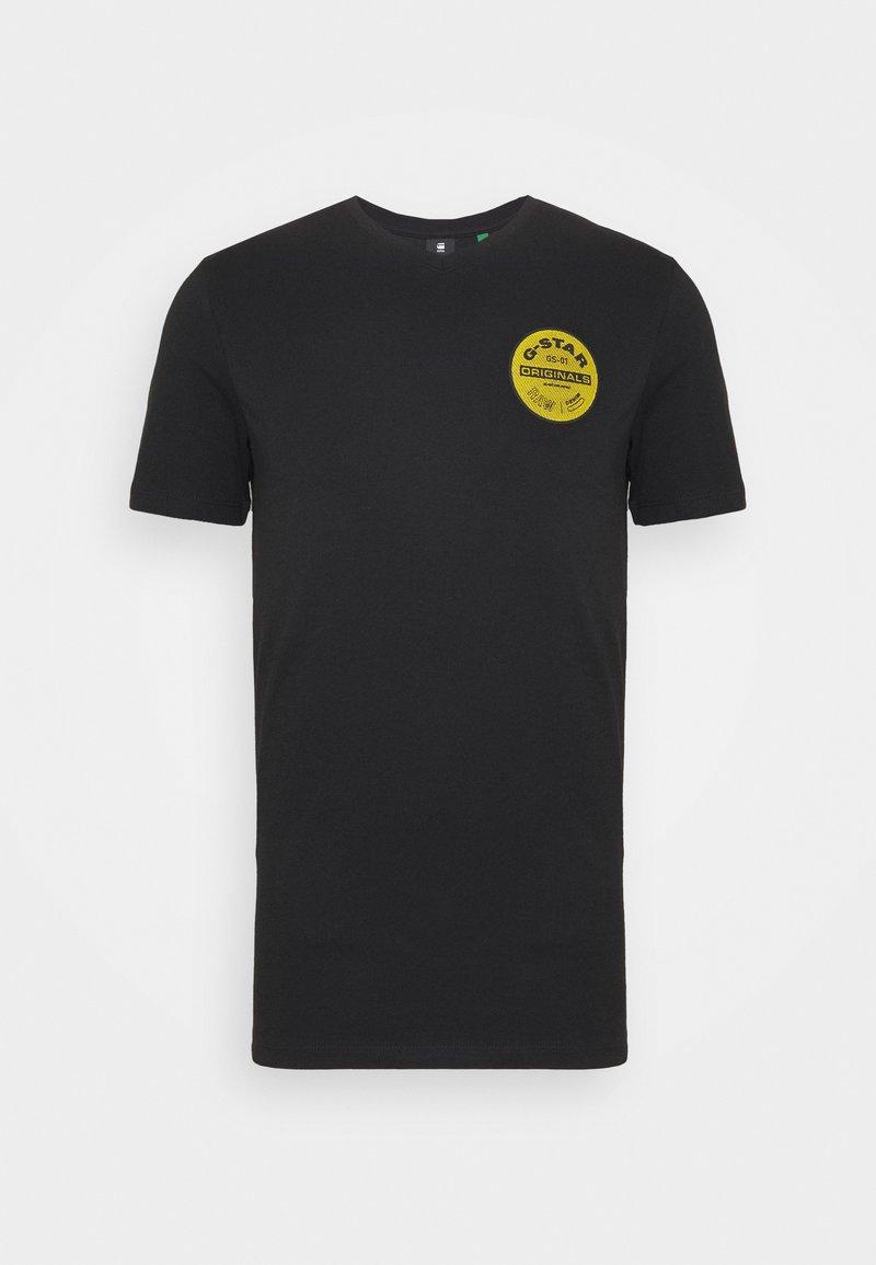 G-Star - ORIGINALS LOGO SLIM ROUND SHORT SLEEVE - T-shirt print - dk black
