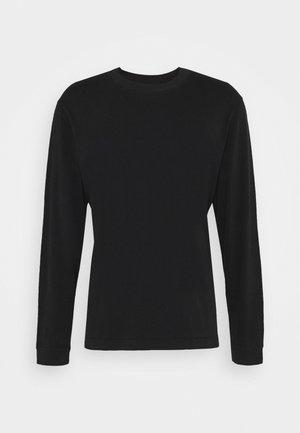 LONG SLEEVE TOP - Long sleeved top - black dark