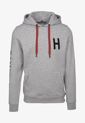 HUSTLER LOGO HOODY - Hoodie - heather grey