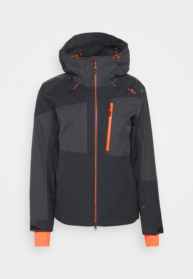 MAN JACKET FIX HOOD - Ski jas - nero