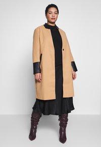River Island Plus - Classic coat - camel - 0