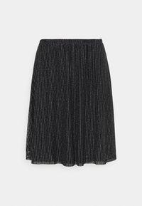 VMGLITTER SKIRT - A-line skirt - black/silver
