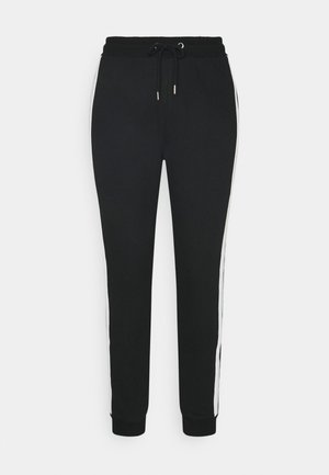 SIDE STRIPE JOGGERS - Spodnie treningowe - black/white