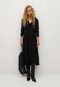 Mango - NOIR - Day dress - schwarz - 1