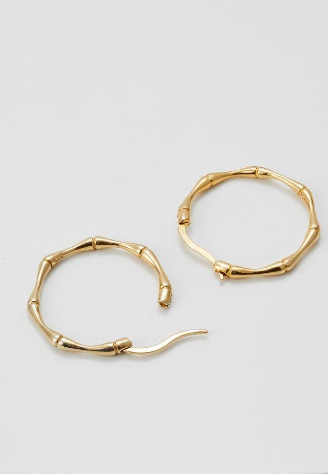 BAMBOO HOOPS - Boucles d'oreilles - gold