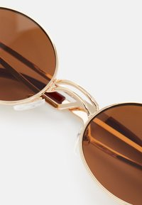 Only & Sons - ONSSUNGLASSES UNISEX - Sunglasses - dark brown/gold combo - 3