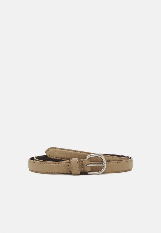 LEATHER - Belt - beige
