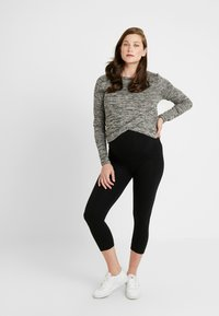 Cotton On - MATERNITY CROSS OVER FRONT LONG SLEEVE - Jumper - black - 1