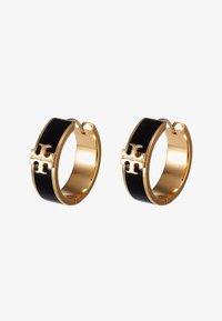 Tory Burch - KIRA HUGGIE EARRING - Orecchini - gold-coloured/black - 3