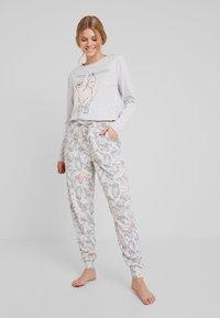 Hunkemöller - SLOTH - Pyjamasoverdel - soft grey melange - 1