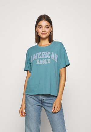 COLOR ON COLOR BRANDED - Print T-shirt - green