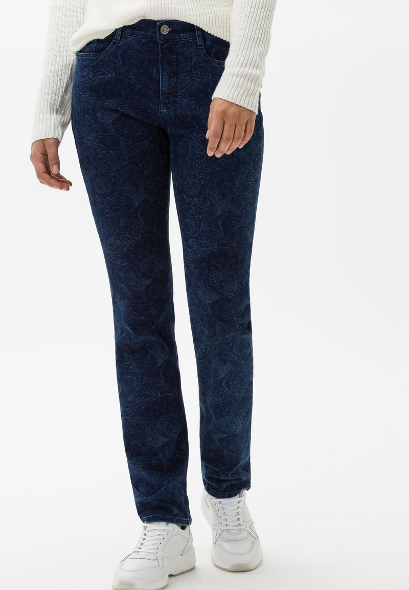 BRAX - STYLE MARY - Slim fit jeans - laser paisley blue