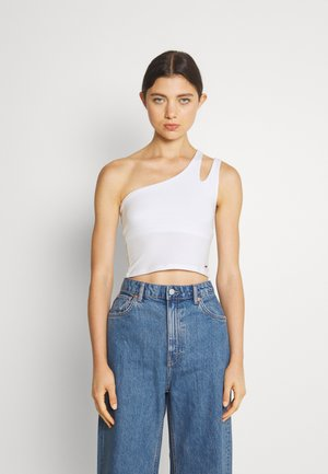 (SCUT OUT ONE SHOULDER - Top - white