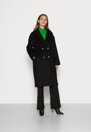 DOUBLE BREASTED COAT - Classic coat - black