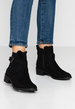 MARSHA BORG LINED BUCKLE CHELSEA - Classic ankle boots - black