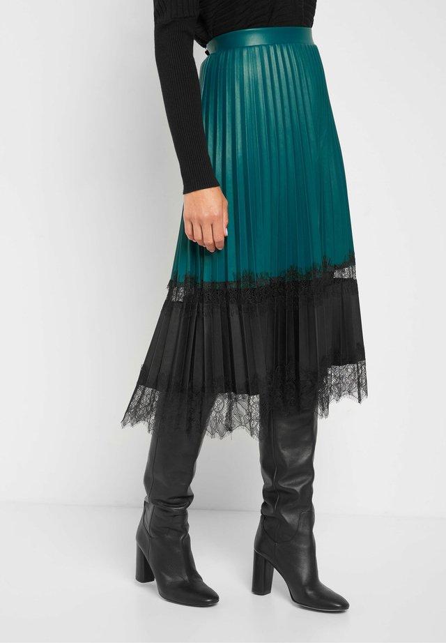 A-line skirt - blaugrün