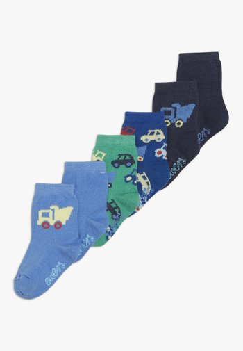 FAHRZEUGE LASTER 6 PACK - Socks - grün/blau
