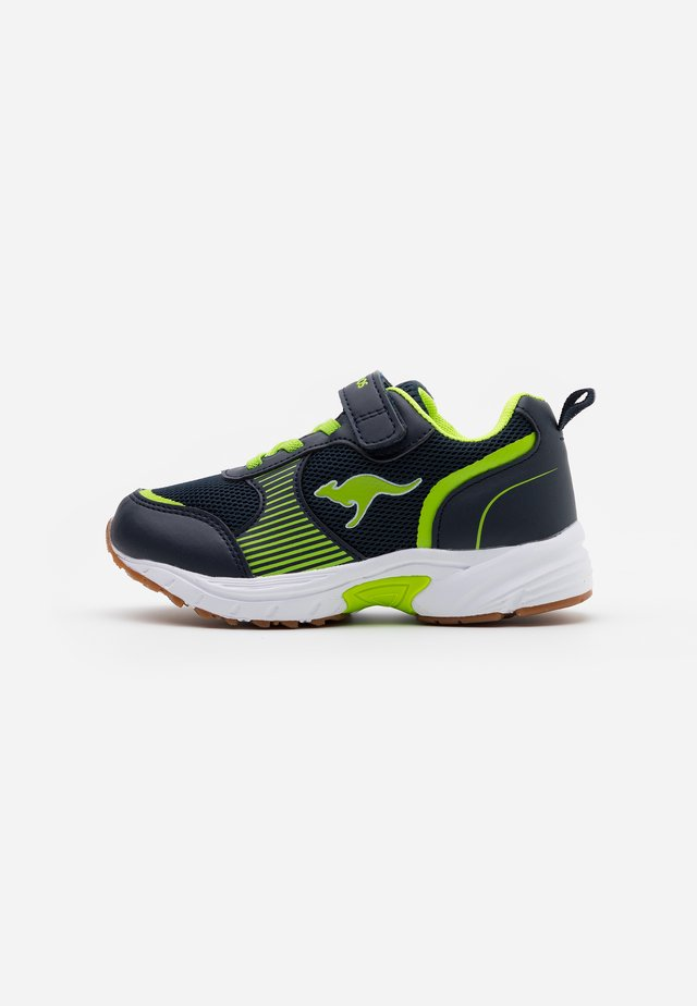 NIKO II - Sneakers - dark navy/lime