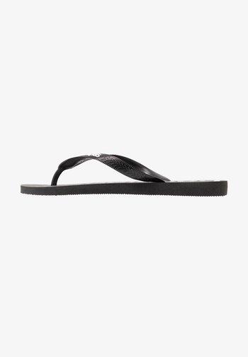 TOP LOGOMANIA  - Pool shoes -  black white