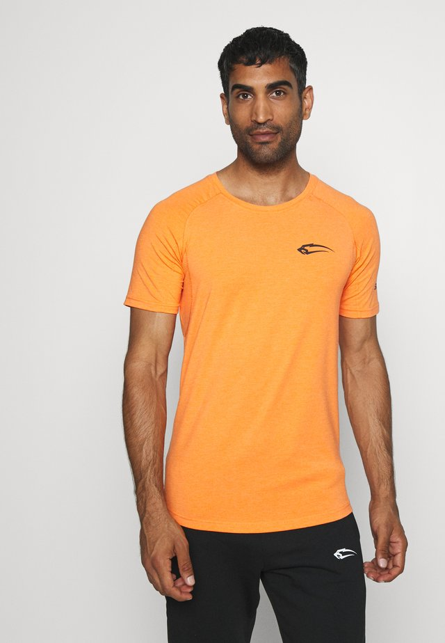 SLIM FIT - T-shirt print - orange