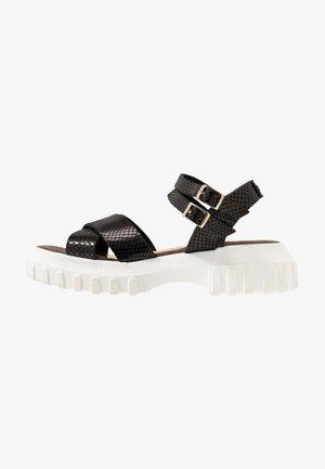 ATLAN - Sandalen met plateauzool - black