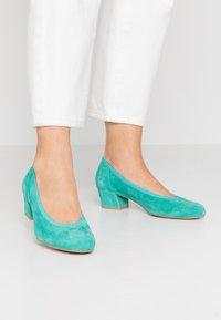 PERLATO - Classic heels - turquoise - 0