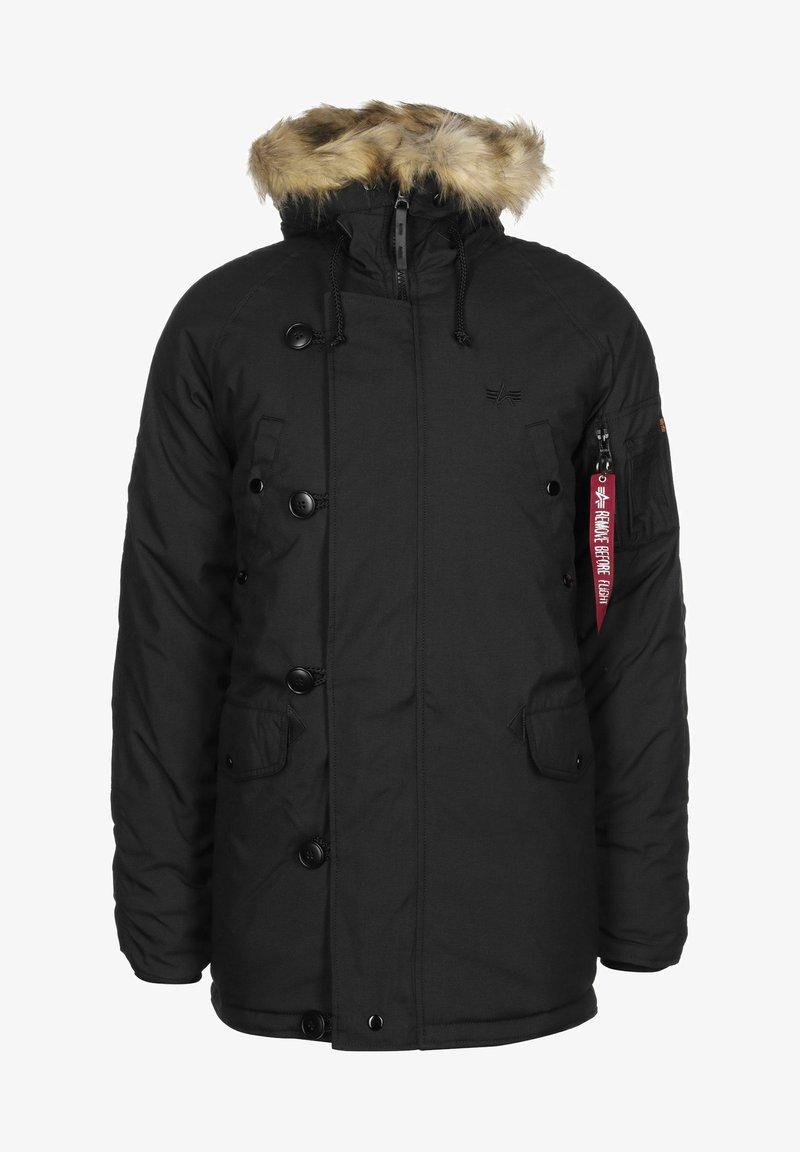 Alpha Industries - EXPLORER W/O PATCHES - Winter jacket - black