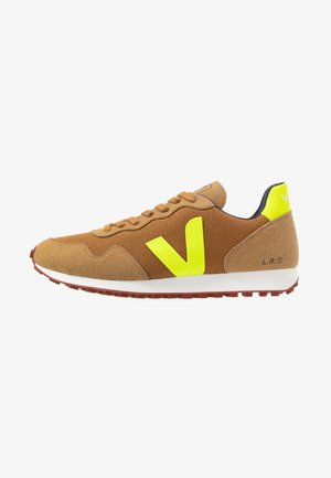 Trainers - tent/jaune fluo