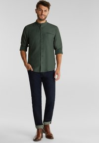 Esprit - WINTERWAFFL - Shirt - dark khaki - 1