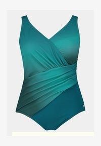 Ulla Popken - Swimsuit - bleu fumée - 1