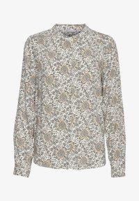 Fransa - Button-down blouse - green flower mix - 4