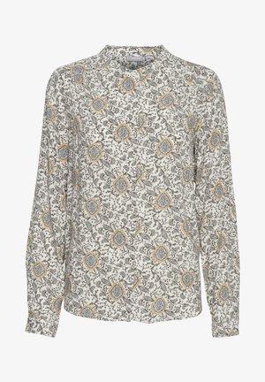 Button-down blouse - green flower mix