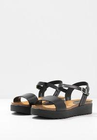 Grand Step Shoes - EDEN - Platform sandals - black - 4