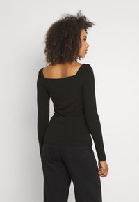 Forever New - SALLY SQUARE NECK - Long sleeved top - black - 2